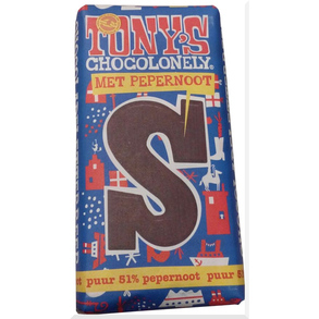 Tony's S Puur pepernoot chocolade letter