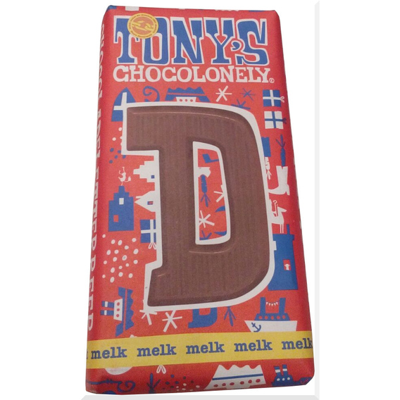 Tony's Chocolonely letter D