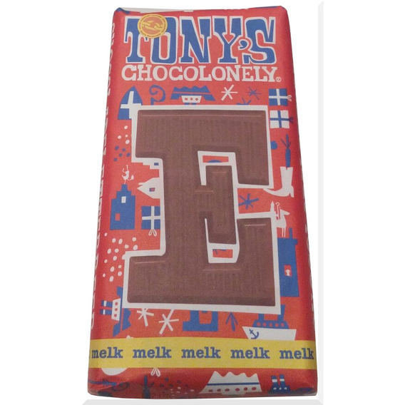 Tony's Chocolonely letter E