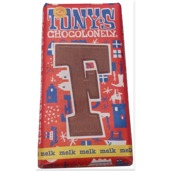 Tony's Chocolonely letter F