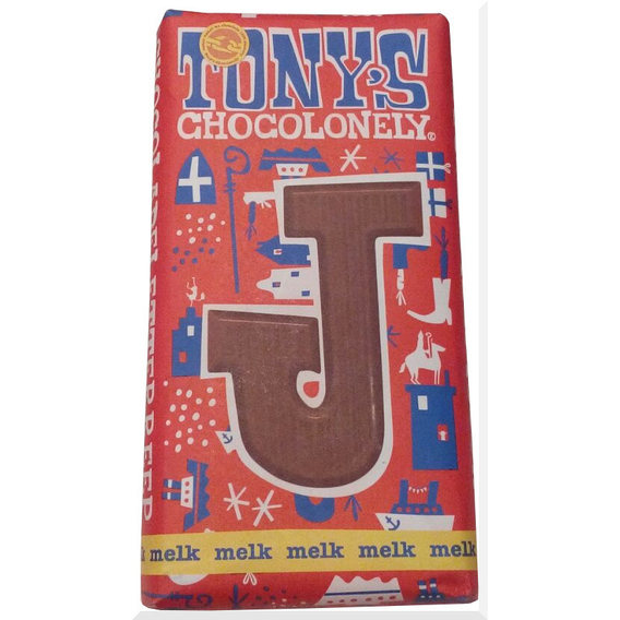 Tony's Chocolonely letter J