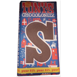 Tony's S Puur 51 % chocolade letter